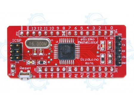 gizDuino Mini with ATmega88 (with pins)